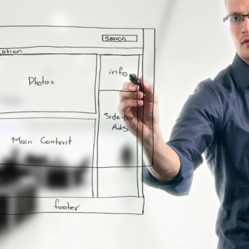Planning the layout of your web pages for user friendly designs.