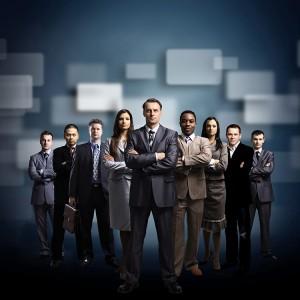 Web development business team.