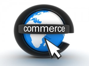 E-commerce website options and online business sales.