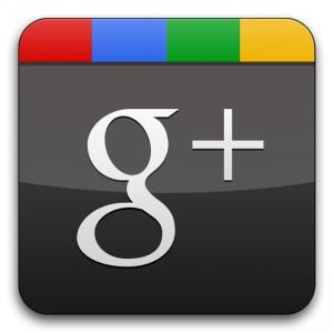 Google+ social media, plus one.