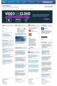 Social media hub example