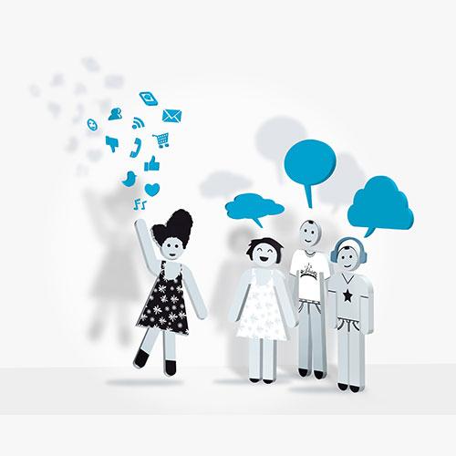 Social media hubs.