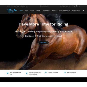 Tackup riding, Our portfolio of web designs.