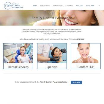 Family dentist, Our portfolio of web designs.