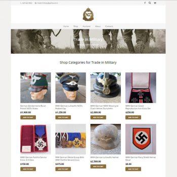 Trade in Military, Our portfolio of web designs.